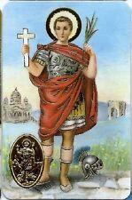 Image pieuse plastifiée poinçon style médaille prière Saint Expédit