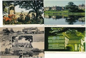 4 Different Post Card of Madeley on the Staffordshire/Cheshire Border.