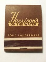 Vintage Matchbook Harrisons On The Water Ft Lauderdale Florida