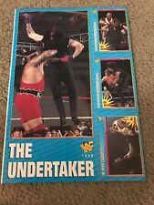 Vintage THE UNDERTAKER WWF TRADING CARDS UNCUT SHEET 1990s RARE PROMO