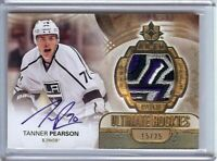 Tanner Pearson 2013-14 UD Ultimate RC Rookie Logo Patch Auto Kings #151 15/25