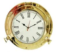 Nautical Vintage Brass Porthole Wall Clock Vintage Home & Office Decor