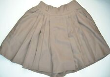Gerard Darel wool blend women skort in light brown, size EU XS, UK 6, USA 2, VGC