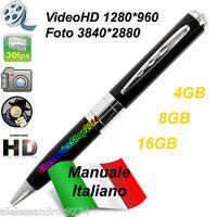 Spypen penna spia spy pen HD microspia micro camera telecamera nascosta 1280x960
