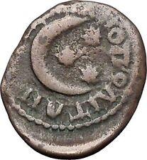 GETA 198AD Marcianopolis Authentic  Ancient Roman Coin MOON Three stars i47843