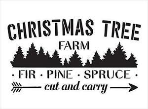 Christmas Tree Farm Sign - Stencil