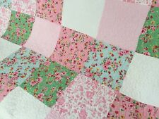 Linens n Things Patchwork Floral Alice Shabby Chic Cotton Quilted Throw Rug