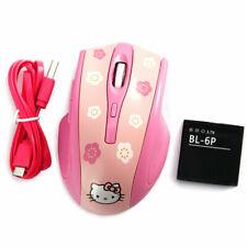 2.4Ghz 2400 DPI Wireless Cordless Optical Mouse Mice +USB Receiver Hello Kitty