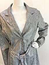 b762667f1359 Animal Print Snakeskin waterproof rain jacket coat attached belt Med 8-10  VGUC