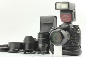 [N MINT+3 w/ 2 Lens ] Minolta α-9 a-9 Maxxum Dynax 9 Body AF 100 100-300mm Japan