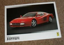Ferrari Brochure 1992 - 512TR 348 TB TS Mondial T Cabriolet