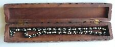 Indian Vintage Wooden Pearl Decorated Handmade Beads in Beautiful Box 1950s
