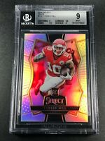 TYREEK HILL 2016 PANINI SELECT #170 SILVER PRIZM ROOKIE RC BGS 9 9.5 9.5 9 SUBS