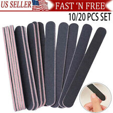 Pro Double Sided Manicure Nail File Emery Boards #100 #180 Packs of 10
