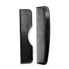 Men's Black Pocket Hair Comb with Case Quality & Strong Gents Length 5'' – 125mm