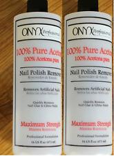 Onyx Professional 100% Pure Acetone Nail Polish Remover 16 Fl Oz Twin Pack