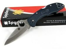 Spyderco C11PGYW Gray Delica 4 Plain Vg-10 Wave Knife