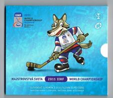SLOVENSKO SLOVENIE SLOVAKIA EURO BU SET 2011 in blister  ICE HOCKEY