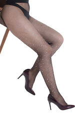 Collants résilles noirs strass rhinestones crystal diamonds brillants sexy TU