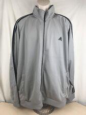Adidas Men's Zip Up Athletic Sweatshirt - Grey - 2XL - NWT