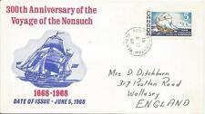 Canada 300th Anniversario del viaggio del Nonsuch 1968 Copertina ref 422
