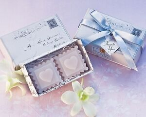 24 Stamped With Love Scented Soap Wedding Bridal Shower Favor