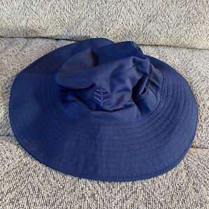 Coolibar UPF 50+ Sun Hat Women's Brighton Bucket Hat Chlorine Resistant L Xl EUC