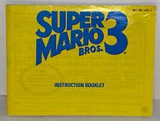 Super Mario Bros. 3 NES Instruction Manual Booklet Nintendo