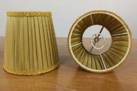 Lampen Schirme Kegelstumpf zum Aufstecken klein ∅11,5 Stoff Falten neuwertig