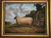 English School Oil Painting Prized Sheep Portrait After Thomas Sidney Cooper