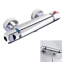 robinet thermostatique vanne mitigeur douche salle de bain exposée chrome