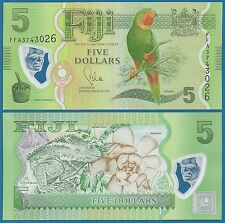 FIJI 5 Dollars P 115 UNC Low Shipping! Combine FREE! ND (2013) Polymer note
