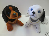 Lot of two Puppy Dog / Beagle Dog / Bobbing / Bobble Head Doll / Toy