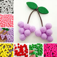 100pcs DIY Pom-Pom Soft Fluffy Balls Felt Card Embellishments Kids Pompoms Hot