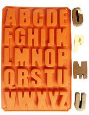 SILICONE lettera alfabeto Pudding PIATTI DA FORNO STAMPO TORTA CIOCCOLATO ICE MAKER MOLD UK
