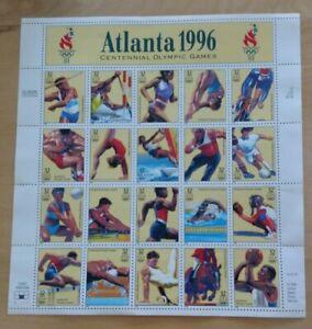 SHEET ATLANTA 1996 Centennial Olympics Stamps