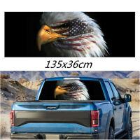 135x36cm Amercan Flag Bald Eagle Rear Window Decal Sticker For Car Truck SUV Van