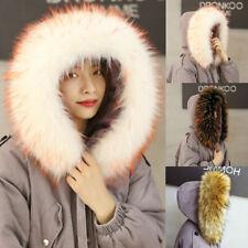 Women Winter Wraps Scarfs Shawl Coat Hood Thick Large Faux Fur Collar Decor Gift