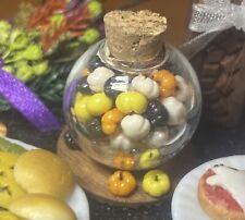 Dollhouse Miniature Handmade 'Jar Of Halloween Candy Pumpkins' 1:12 Food Artisan