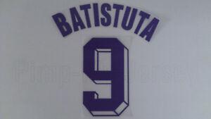 BATISTUTA #9 Fiorentina Away 1998-2000 Name Set