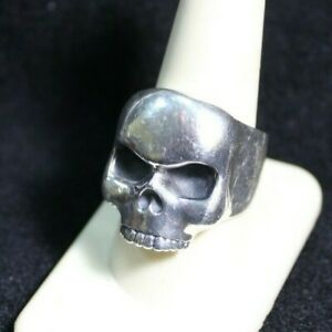 King Baby 925 Silver Skull Ring USA Size 10 #S160