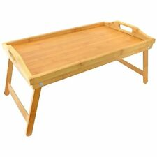 Bamboo Bed Tray With Folding Leg's Breakfast Serving Lap Tray Wooden Table Mate