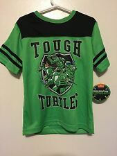 Nickelodeon Tmnt Turtles Boys Green (Size 5/6) Short Sleeve T-shirt (Nwt) Fs