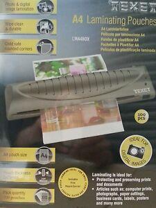 100 x High Quality A4 Hot Roll Laminator Laminating Machine Pouch Pouches