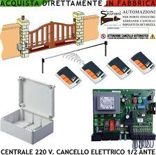 Centrale Compatibile NICE 1/2 Motori 220 V 550 W Cancello 4 Radioc. Rolling. Cod
