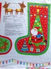 Print fabric(Happy Santa Stocking Panel)