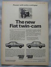 1968 Fiat 124 Coupe & 125 Saloon Original advert