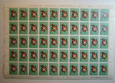 1975 ITALIA  70 lire  XVII Giornata  del  Francobollo  foglio intero MNH**