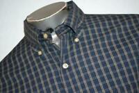 11964-a Mens Brooks Brothers Dress Shirt Size XL Blue Plaids