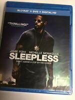 Sleepless (Blu-ray/DVD,Digital HD, 2017,2-Disc Set) Denzel Washington, NEW! USA!